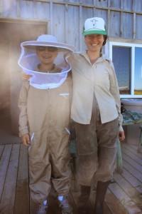 Ryan and Bela Farm's resident beekeeper, Sabrina Malach